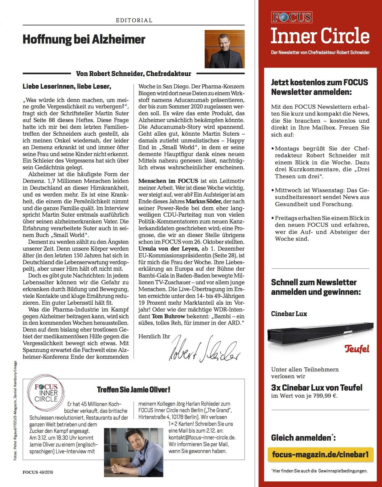 FOCUS Magazin FOCUS Magazin - Leben ohne Alzheim_r
