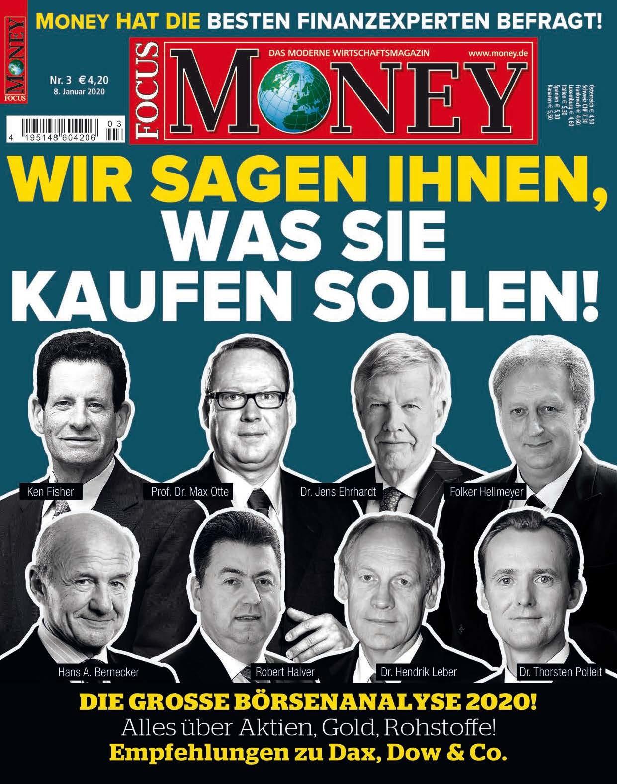 FOCUS-MONEY FOCUS MONEY – Die große Börsenanalyse 2020. Alles über Aktien, Gold, Rohstoffe