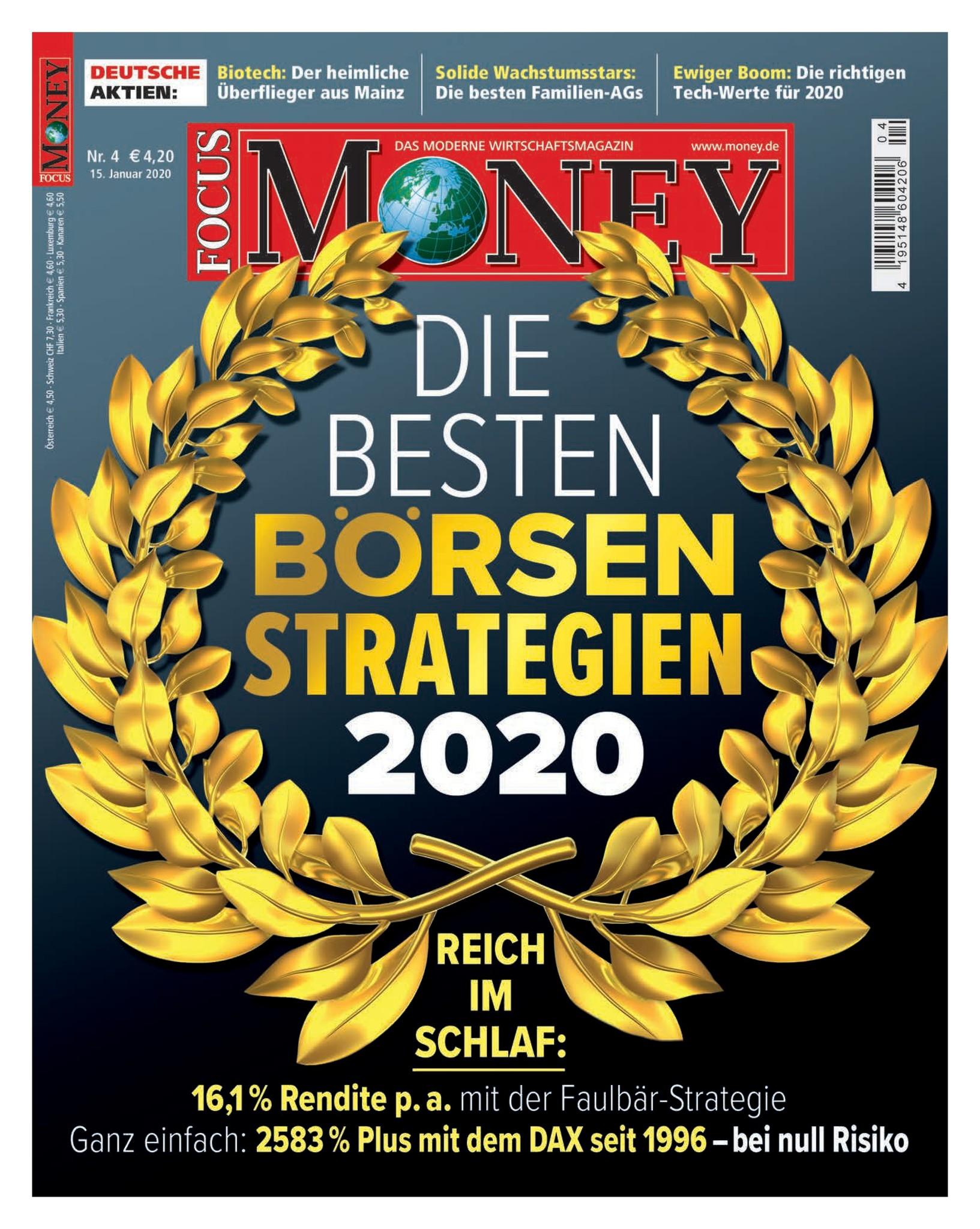 FOCUS-MONEY FOCUS MONEY – Reich im Schlaf: Die besten Börsenstrategien 2020