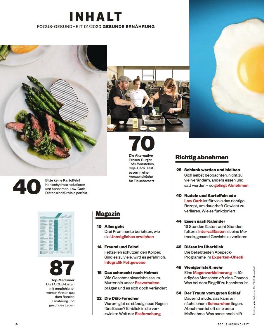 FOCUS-GESUNDHEIT FOCUS GESUNDHEIT - Gesund ernähren 2020