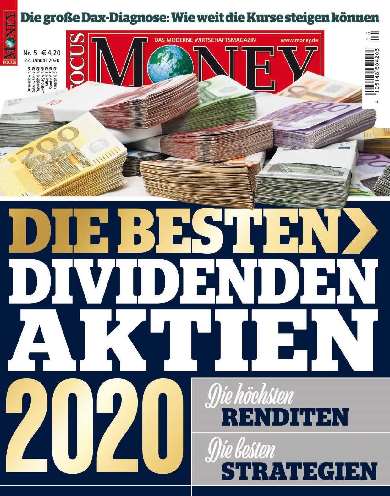FOCUS-MONEY FOCUS MONEY - Die besten Dividenden-Aktien 2020
