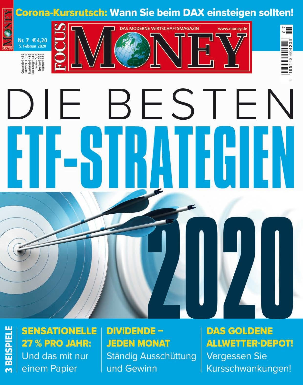 FOCUS-MONEY FOCUS MONEY – Die besten ETF-Strategien 2020