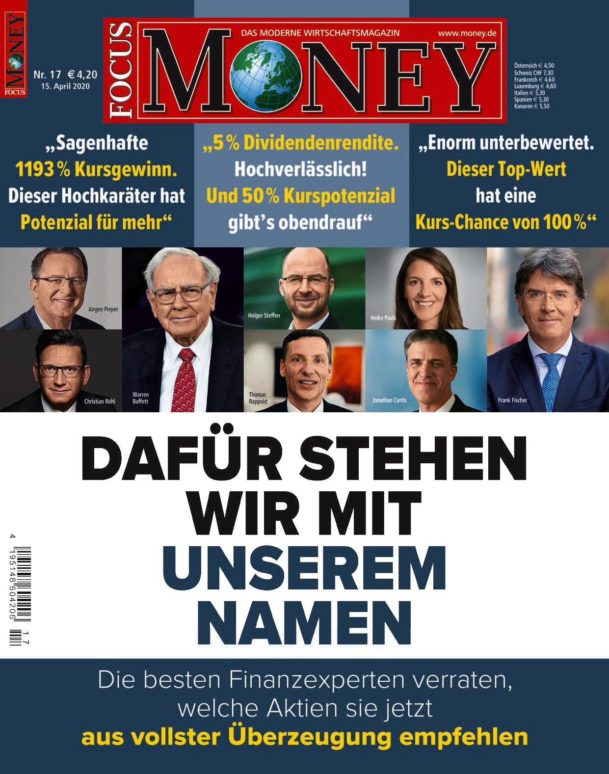 FOCUS-MONEY FOCUS MONEY – Dafür stehen wir mit unserem Namen