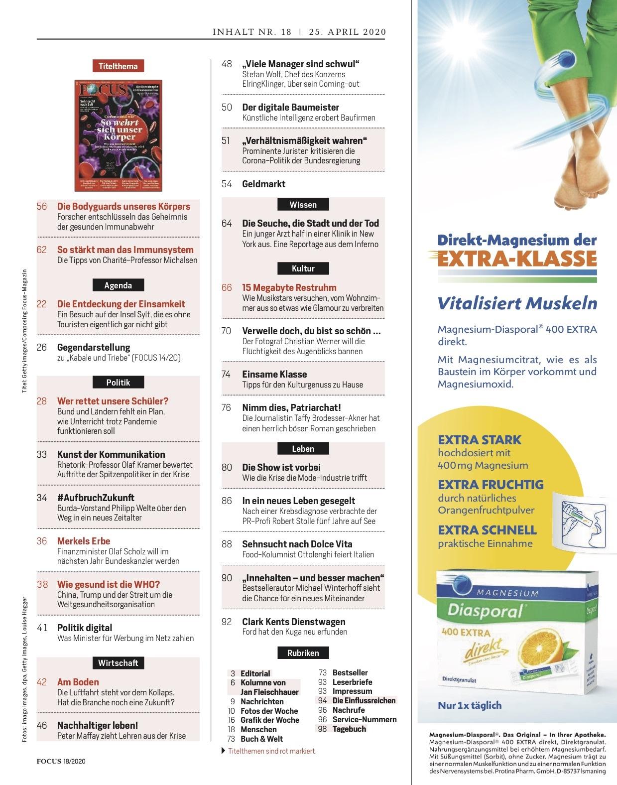 FOCUS Magazin FOCUS Magazin - So wehrt sich unser Körper