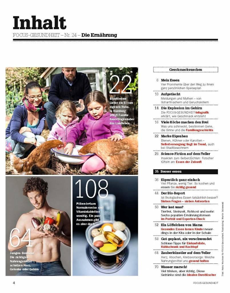 FOCUS-GESUNDHEIT FOCUS Gesundheit - Gesund Essen und Abnehmen 2015