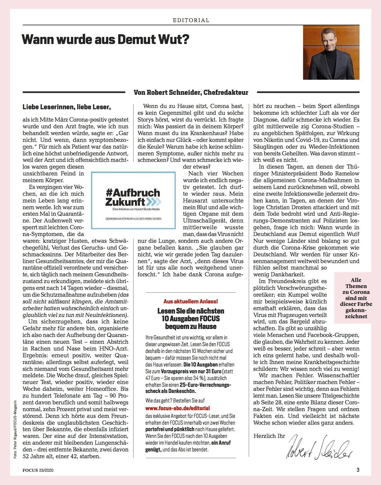 FOCUS Magazin FOCUS Magazin - Haben wir überreagiert?