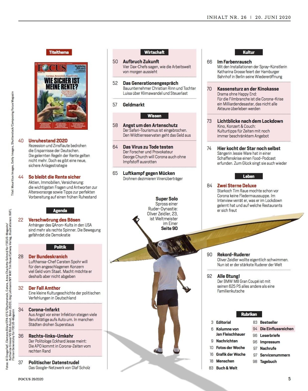 FOCUS Magazin FOCUS Magazin - Wie sicher ist meine Rente?