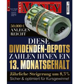 FOCUS-MONEY Diese Dividenden-Depots zahlen Ihnen ein 13. Monatsgehalt