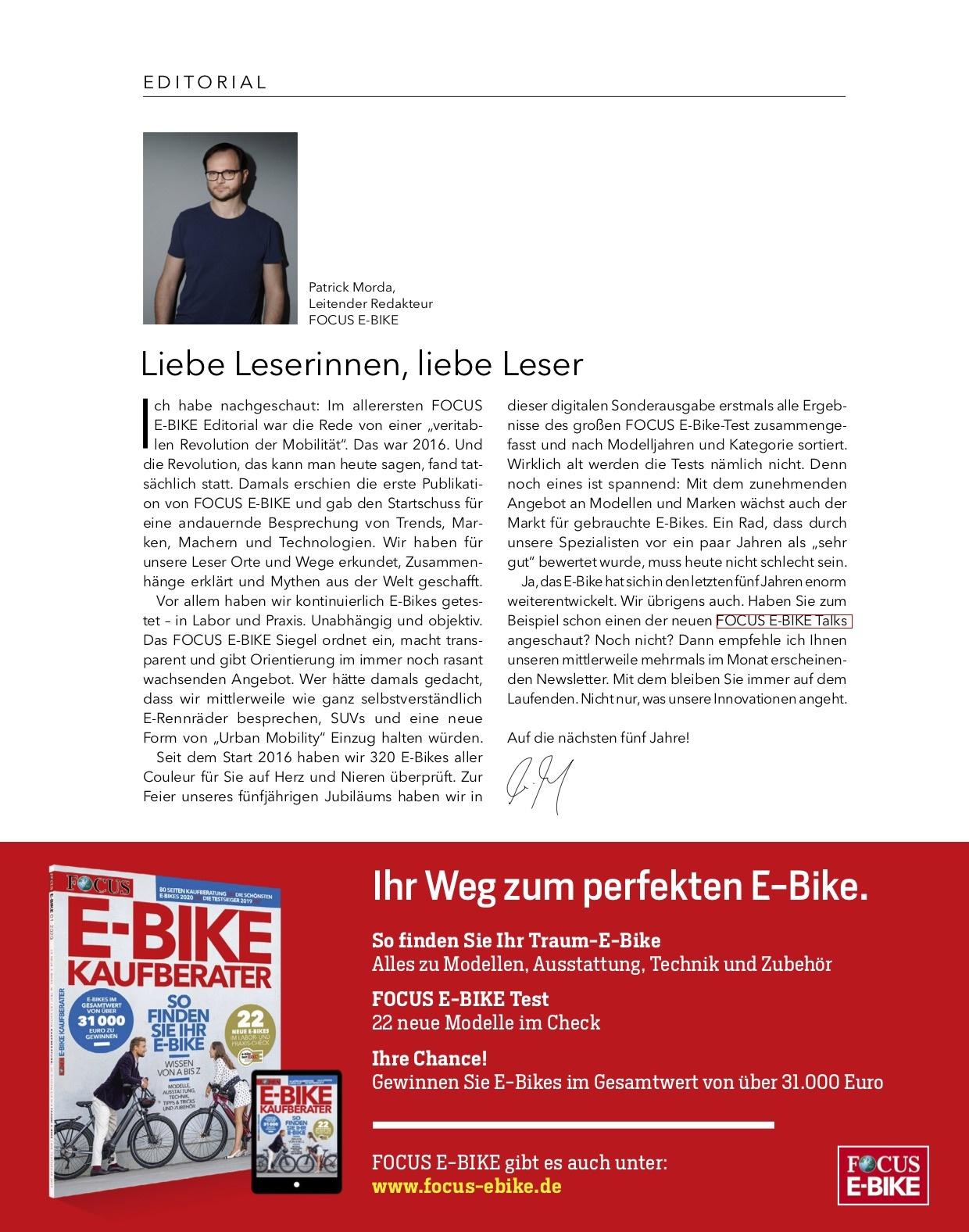 FOCUS E-BIKE FOCUS E-BIKE- 5 Jahre E-BIKE Tests