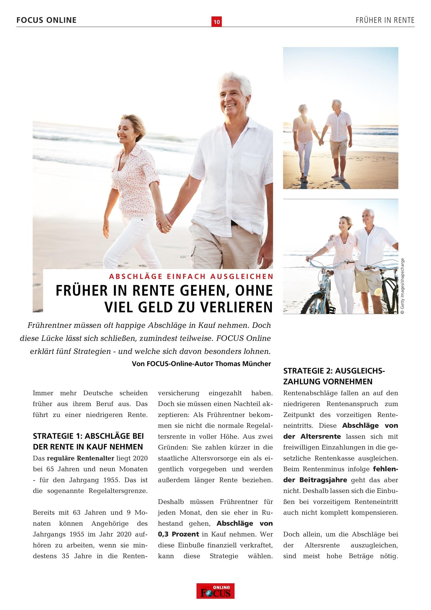 FOCUS Online Früher in Rente: Verdienter Ruhestand