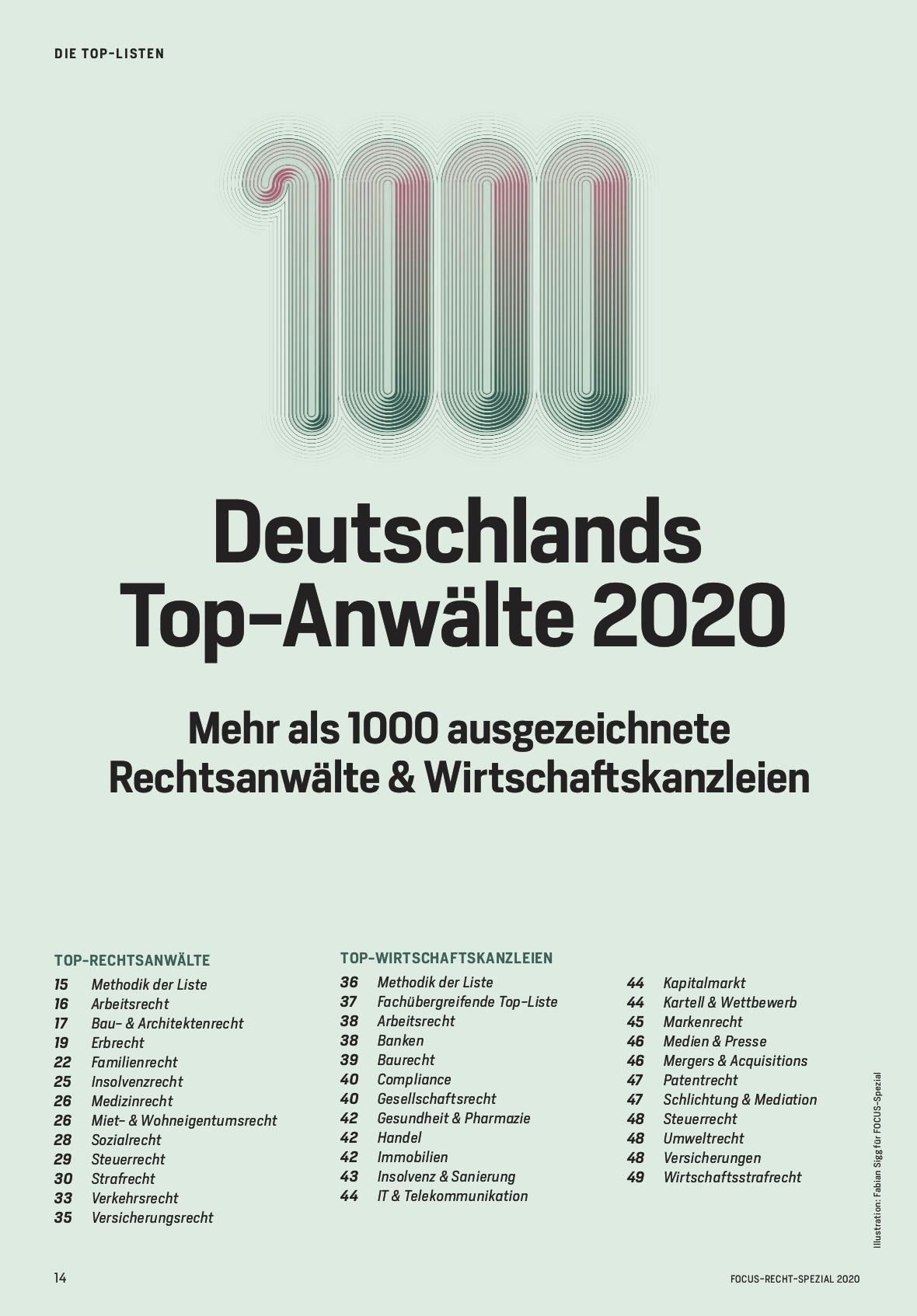 FOCUS SPEZIAL FOCUS Recht-Spezial 2020
