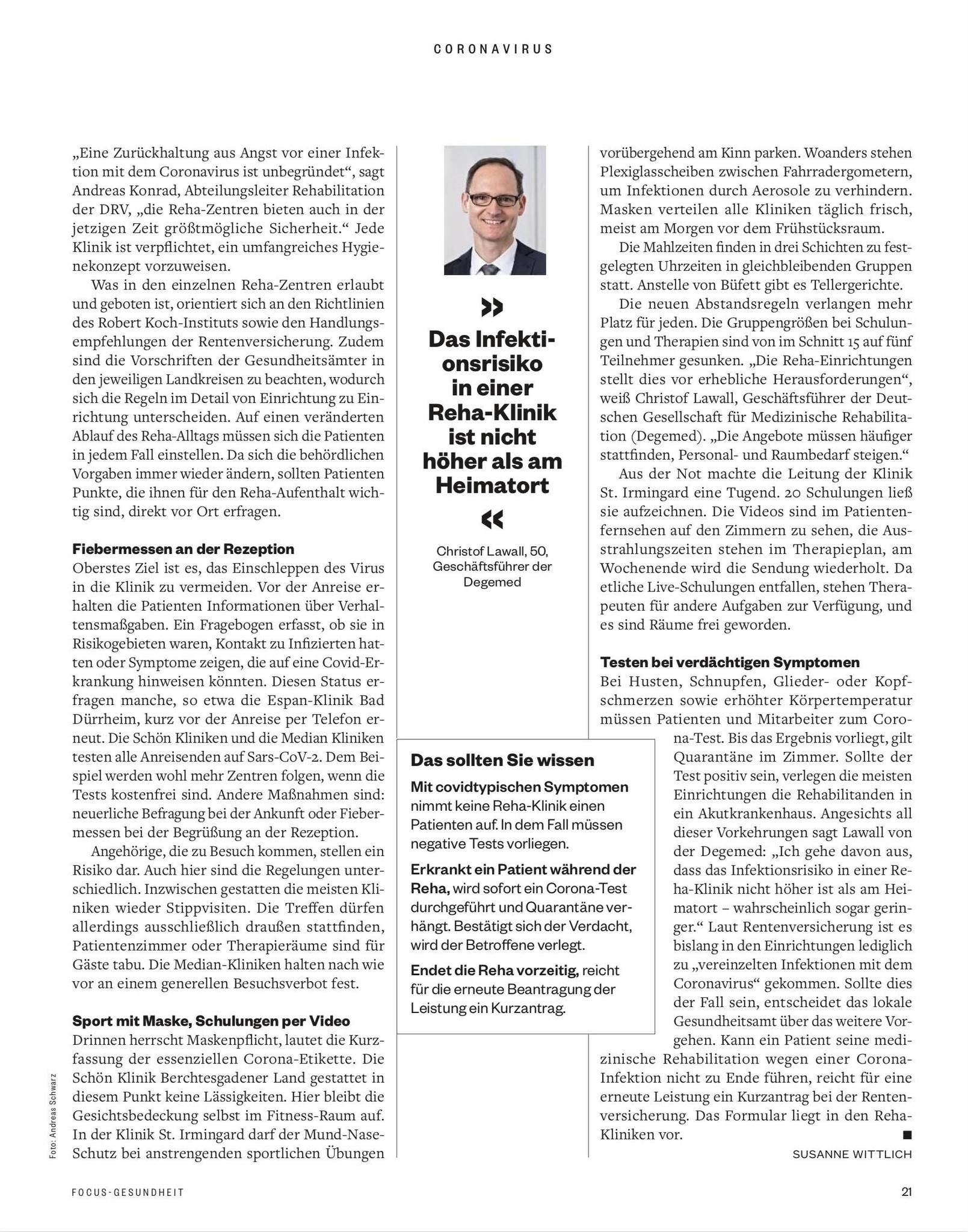FOCUS-GESUNDHEIT FOCUS Gesundheit - Die besten Reha-Kliniken 2021