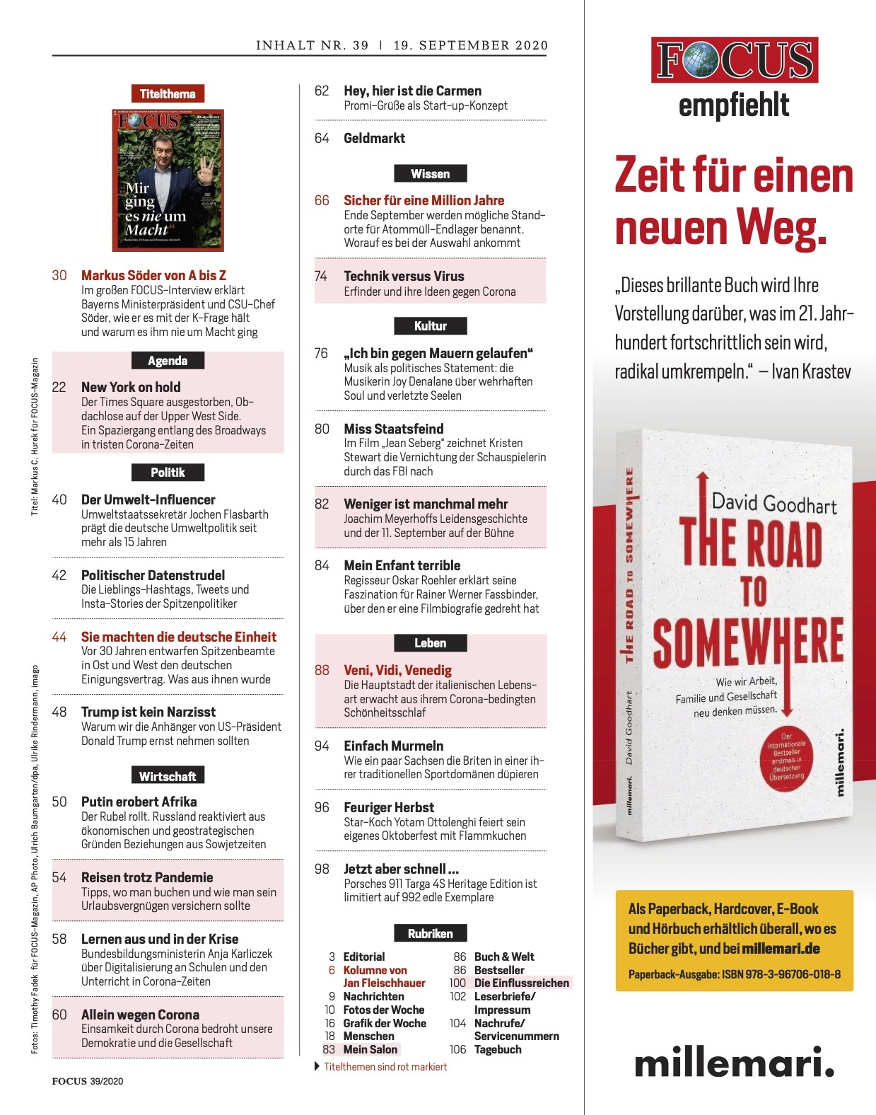 FOCUS Magazin FOCUS Magazin - Mir ging es nie um Macht