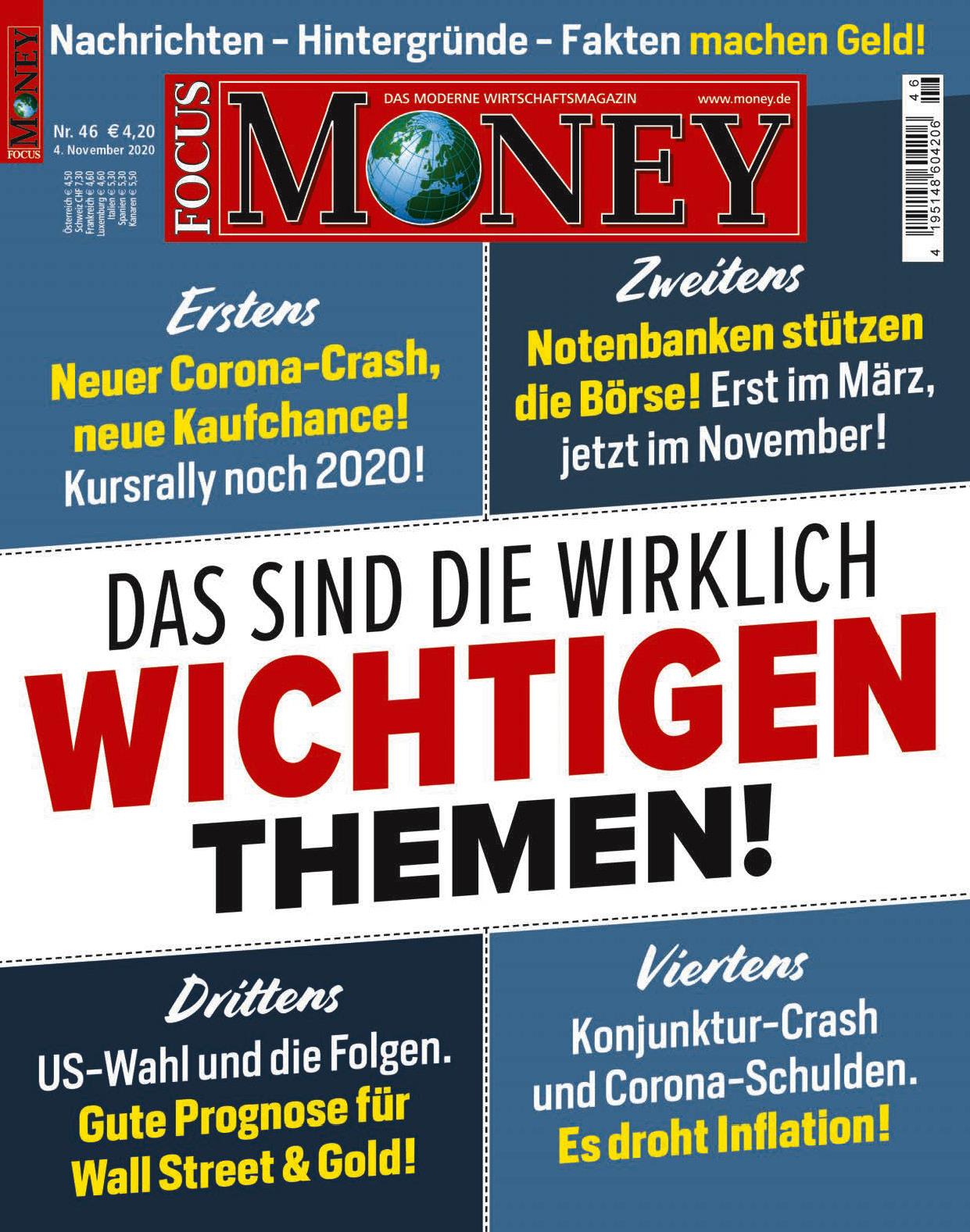 FOCUS-MONEY FOCUS MONEY – Das sind die wirklich wichtigen Themen