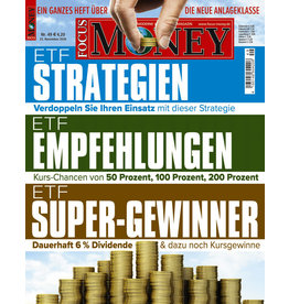 FOCUS-MONEY ETF-Strategien, ETF-Empfehlungen, ETF-Super-Gewinner