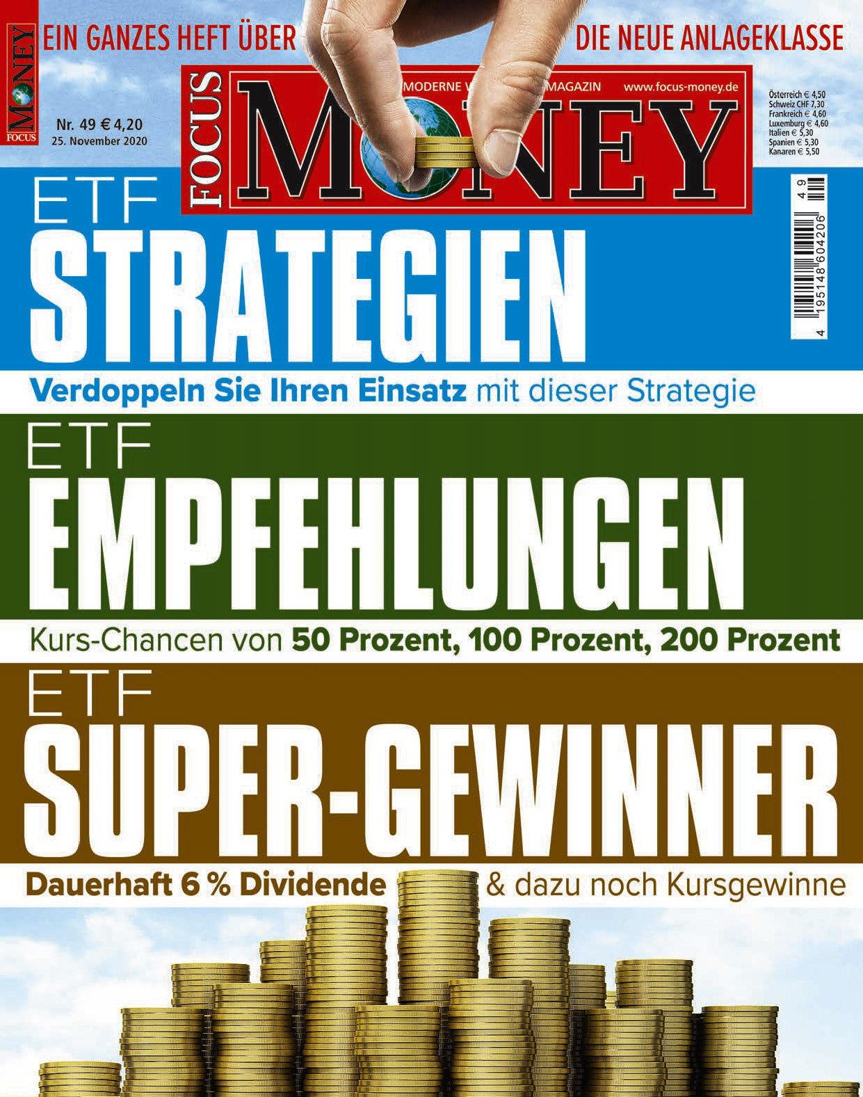 FOCUS-MONEY FOCUS MONEY – ETF-Strategien, ETF-Empfehlungen, ETF-Super-Gewinner