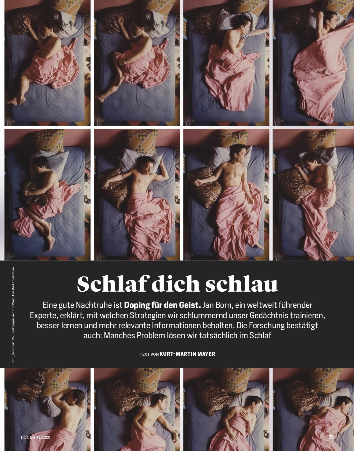 FOCUS Magazin FOCUS Magazin - Schlaf dich schlau