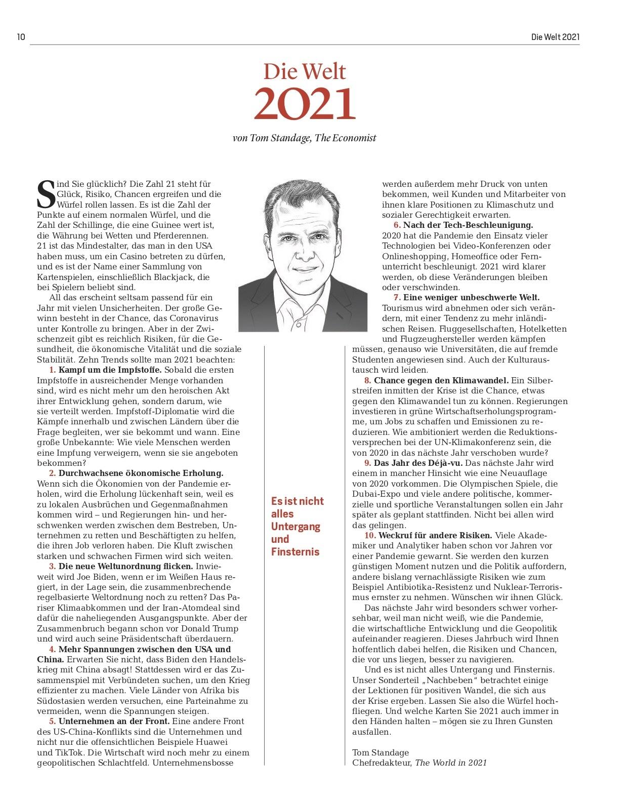 FOCUS Magazin FOCUS & The Economist - Die Welt 2021