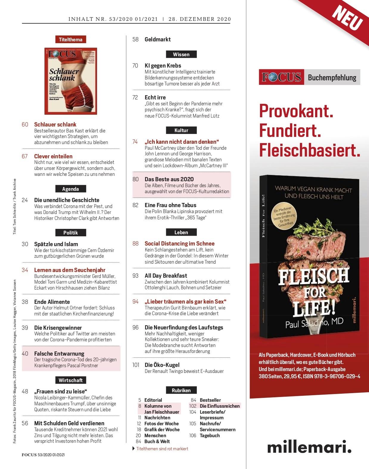 FOCUS Magazin FOCUS Magazin - Schlauer schlank