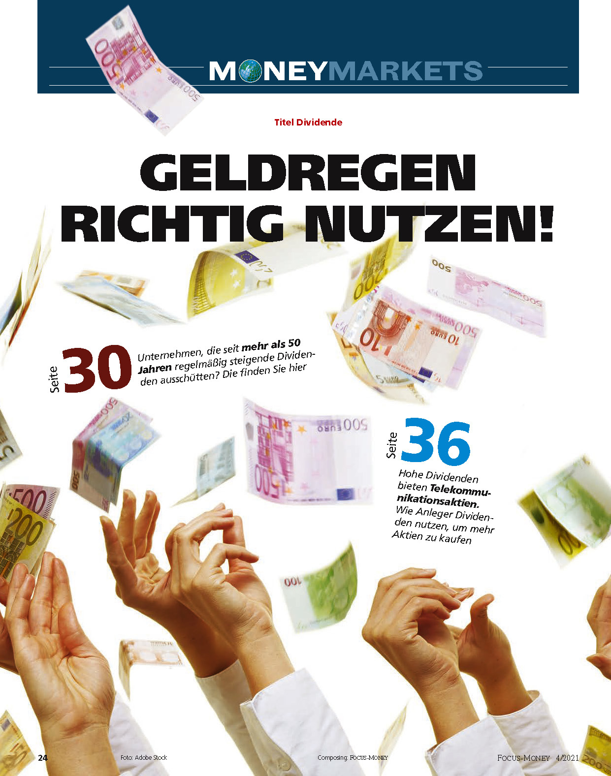 FOCUS-MONEY FOCUS MONEY – Die besten Dividendenaktien 2021