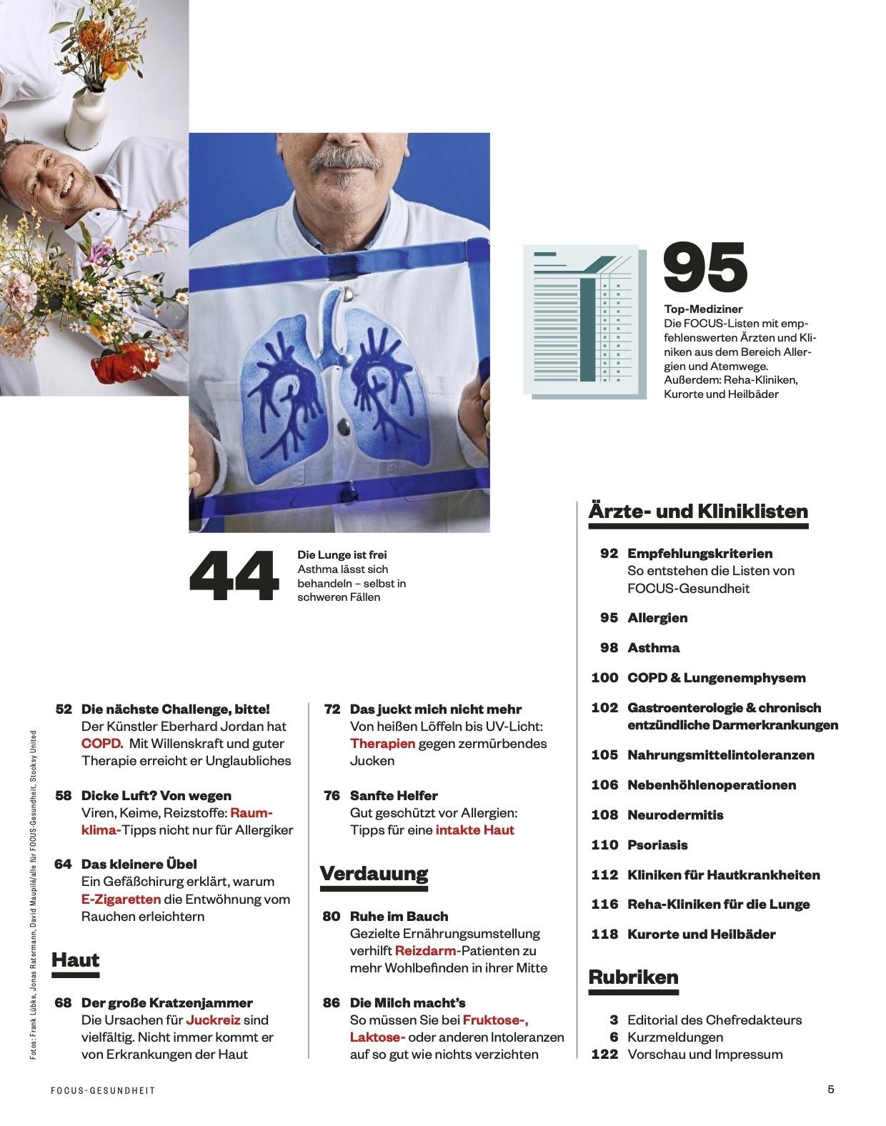 FOCUS-GESUNDHEIT FOCUS Gesundheit - Atemwege & Allergien 2021