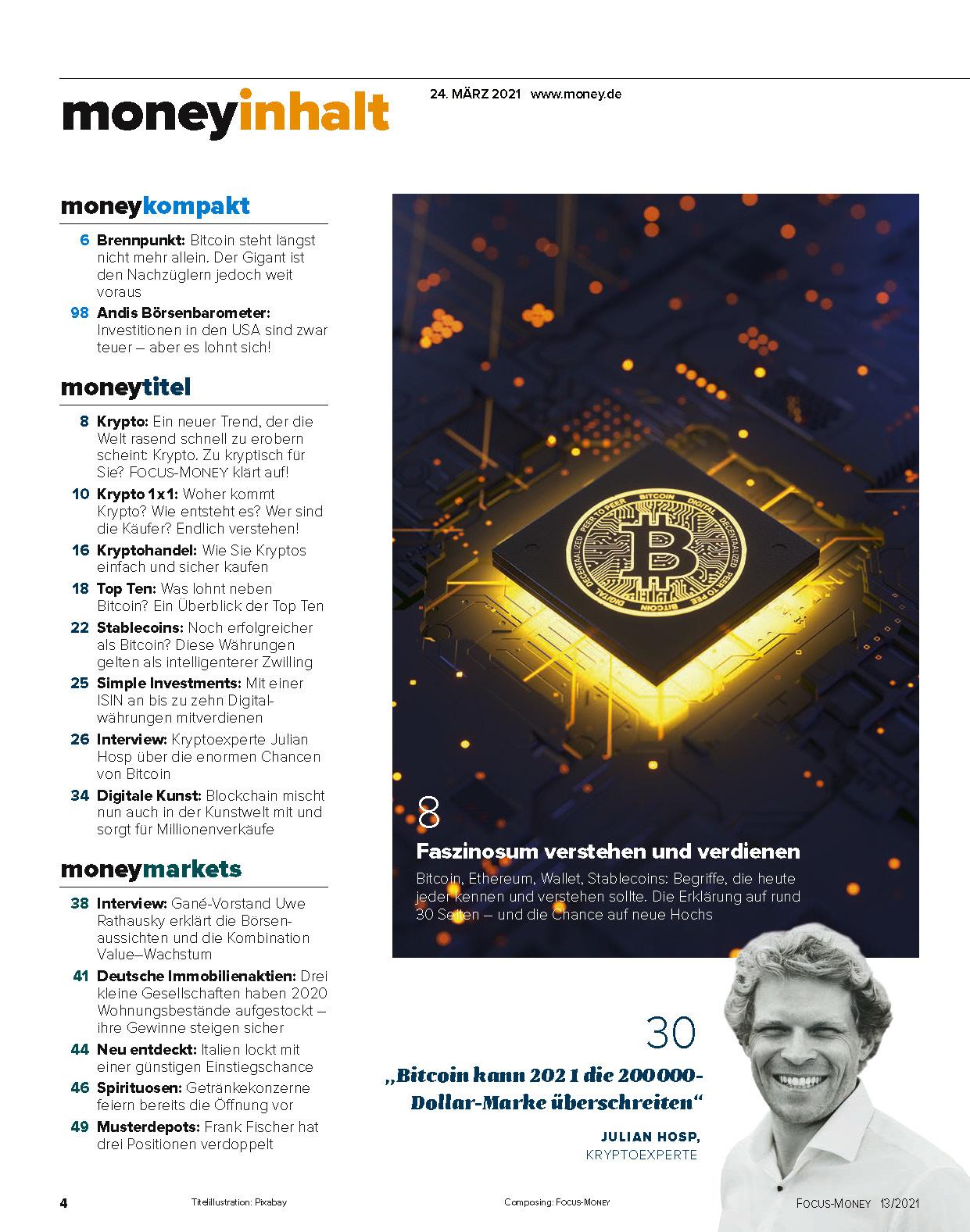 FOCUS-MONEY FOCUS MONEY – Kryptowährungen: Endlich alles verstehen! Endlich mitverdienen!