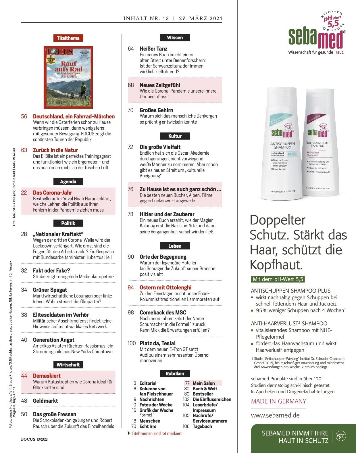 FOCUS Magazin FOCUS Magazin - Rauf aufs Rad