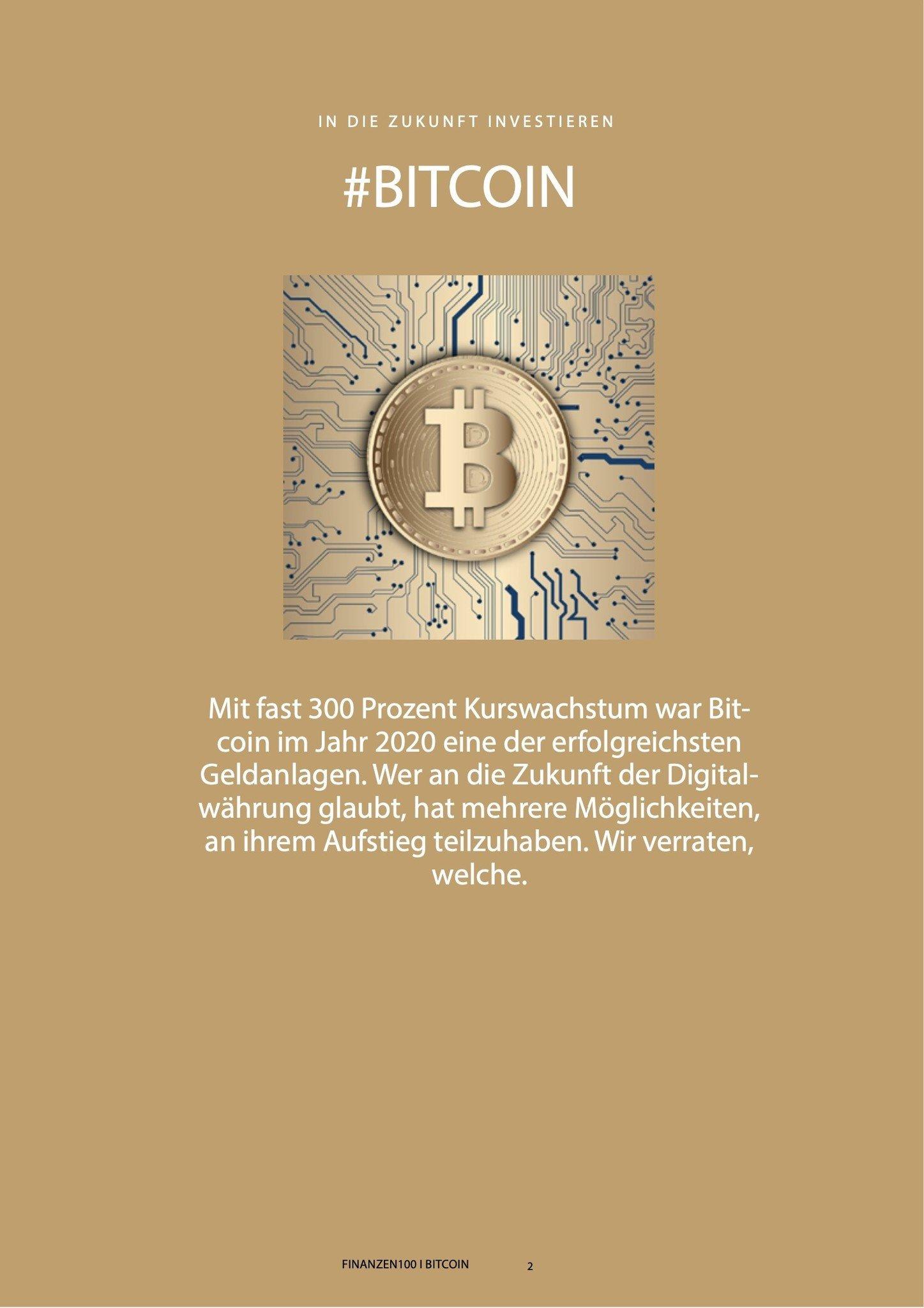 Finanzen100 Investieren in Bitcoin: So profitieren Sie von der Kryptowährung