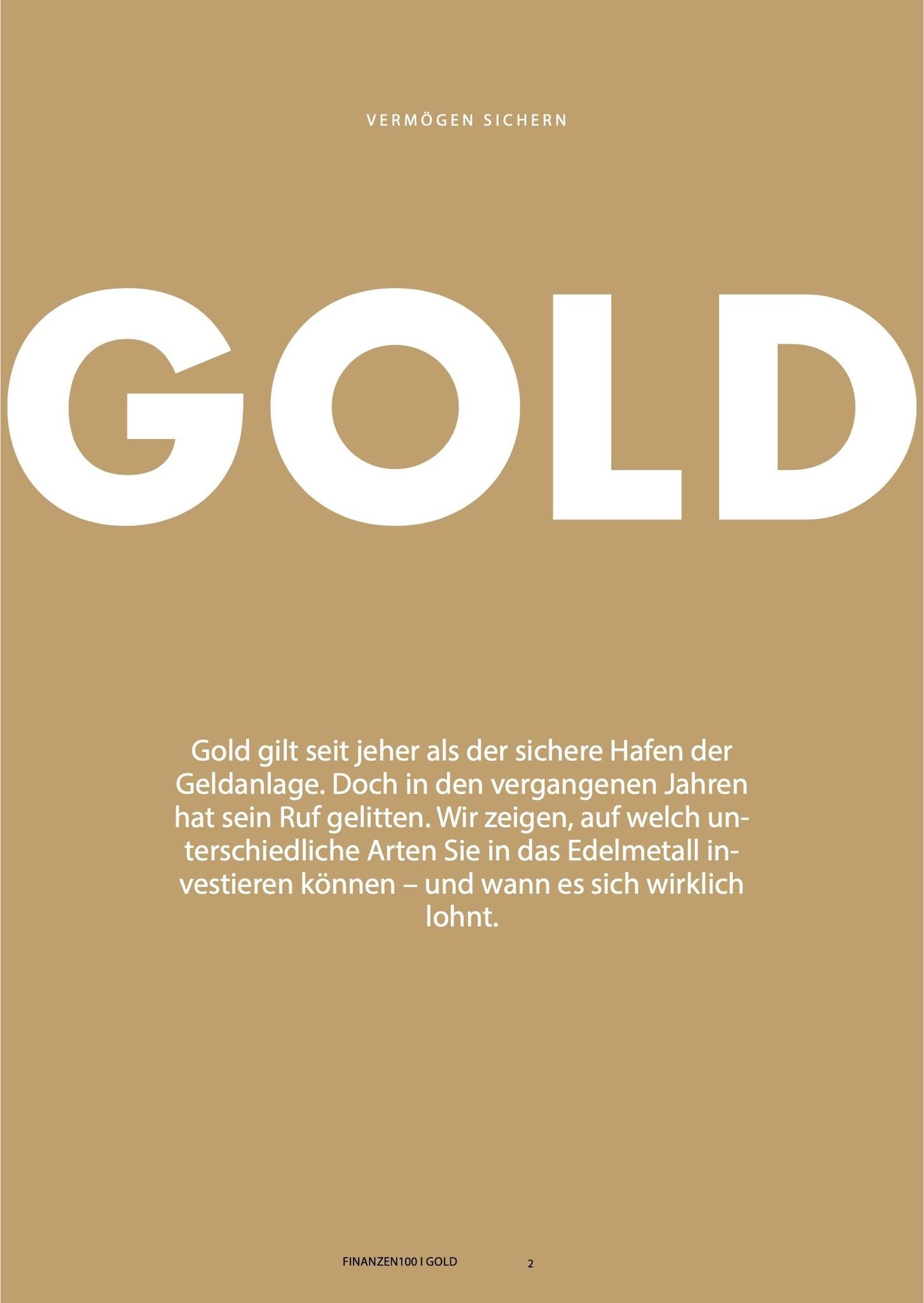 Finanzen100 Bestes Mittel gegen Krisen: So sichern Sie Ihr Vermögen mit Gold
