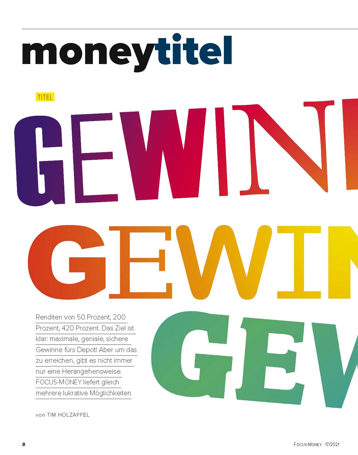 FOCUS-MONEY FOCUS MONEY – Die höchsten, genialsten und sichersten Gewinne