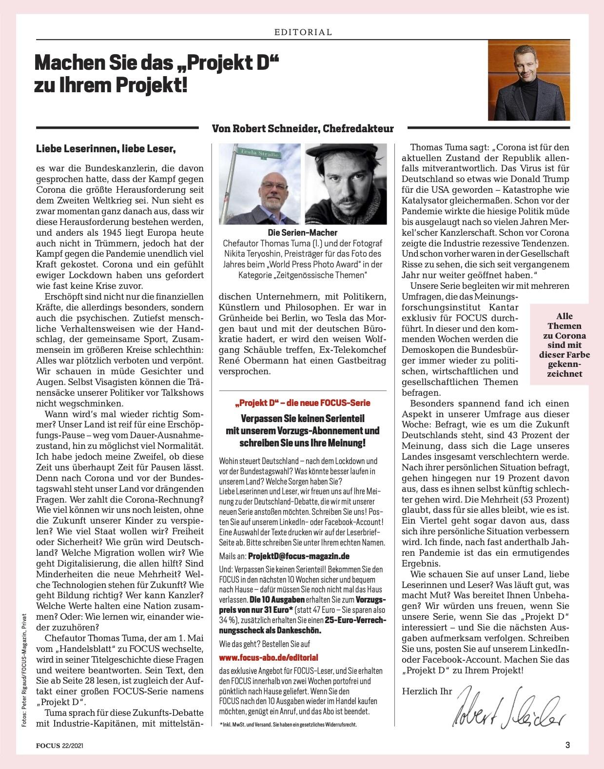 FOCUS Magazin FOCUS Magazin - Mission Deutschland