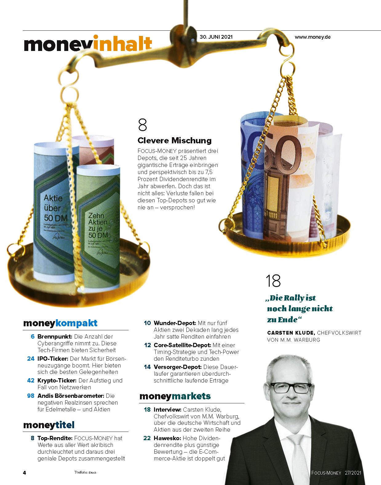 FOCUS-MONEY FOCUS MONEY – Wie Sie ohne Kursrisiko in Dividendenaktien anlegen