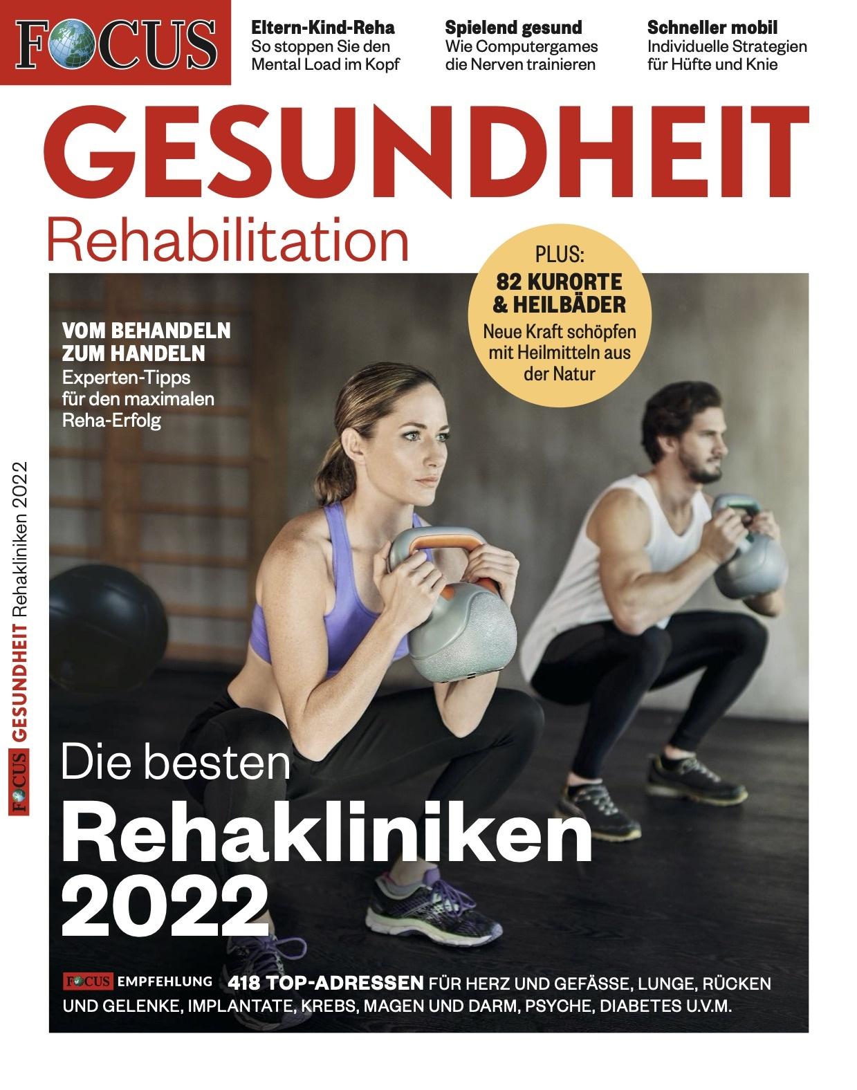 FOCUS-GESUNDHEIT  FOCUS Gesundheit - Die besten Reha-Kliniken 2022