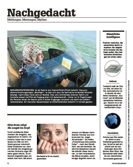 FOCUS-GESUNDHEIT FOCUS Gesundheit - So denkt das Gehirn - Forscher enträtseln und reparieren das Netzwerk im Kopf