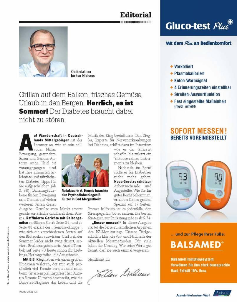 FOCUS FOCUS Diabetes - Leben, wie ich will! Mit FOCUS-Diabetes. Immer gute Werte dank neuer Messgeräte. Erfahren Sie mehr in Ausgabe 3/2015