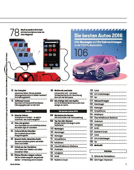 FOCUS FOCUS Spezial - Deutschlands große Bestenliste mit 350 Neu- und Gebrauchtwagen