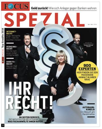 "FOCUS-SPEZIAL Focus Spezial ""Deutschlands Top-Anwälte 2016"""