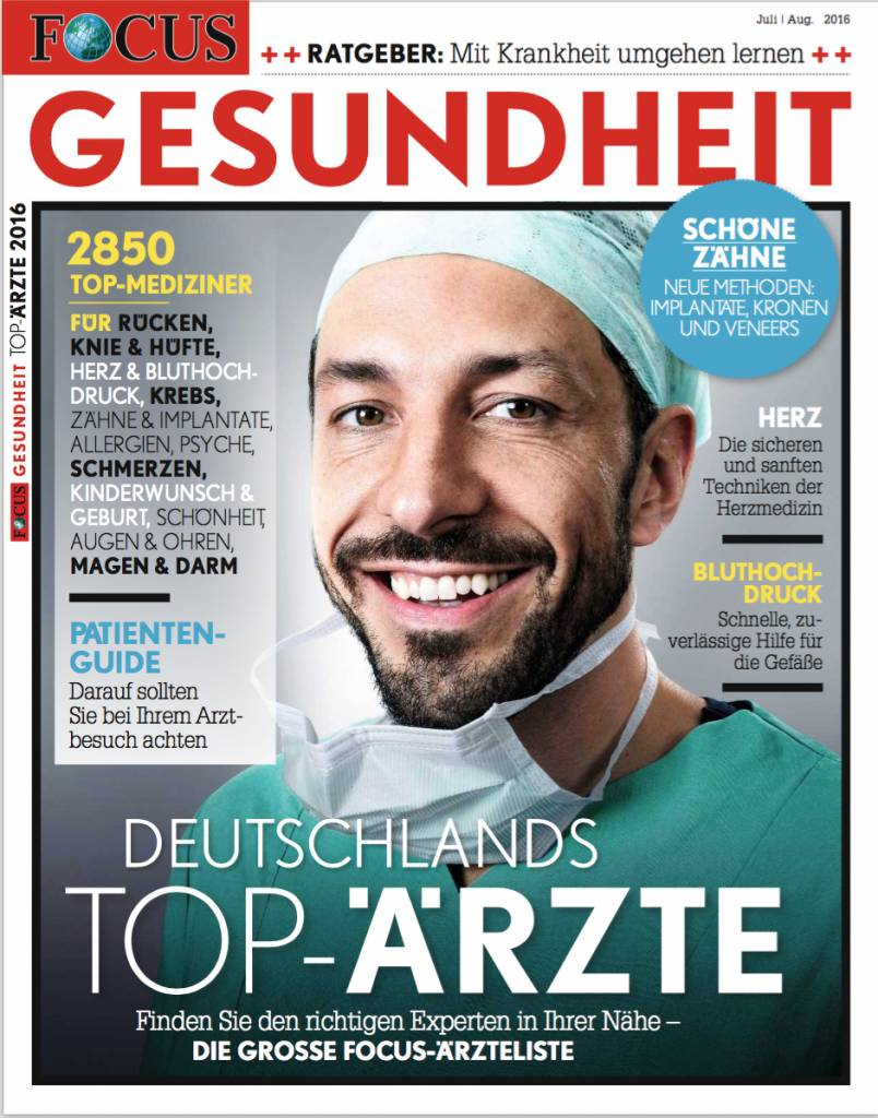 """FOCUS-GESUNDHEIT Focus Gesundheit """"Top-Ärzte 2016"""""""