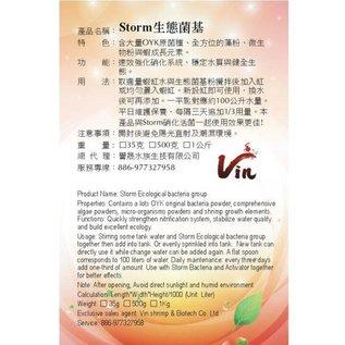 Vin storm ecological bacteria