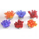Kunstplant nano bush colored - 9 cm hoog