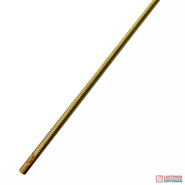 Liner aansluit spiraal - Messing - 20 cm
