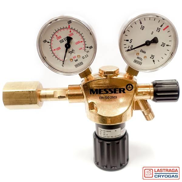 Reduceerventiel met manometer - Zuurstof, Menggas, Argon, Acetyleen