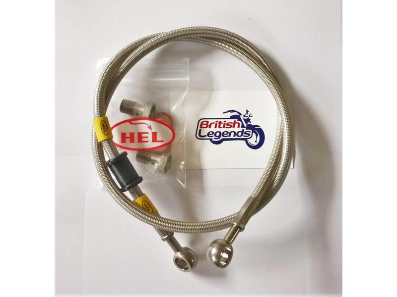 HEL Performance Braided Brake Hoses for Triumph Twins