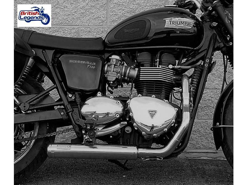 """MASS Moto Ligne 2-en-1 Inox """"Cross"""" pour Triumph Twins"""