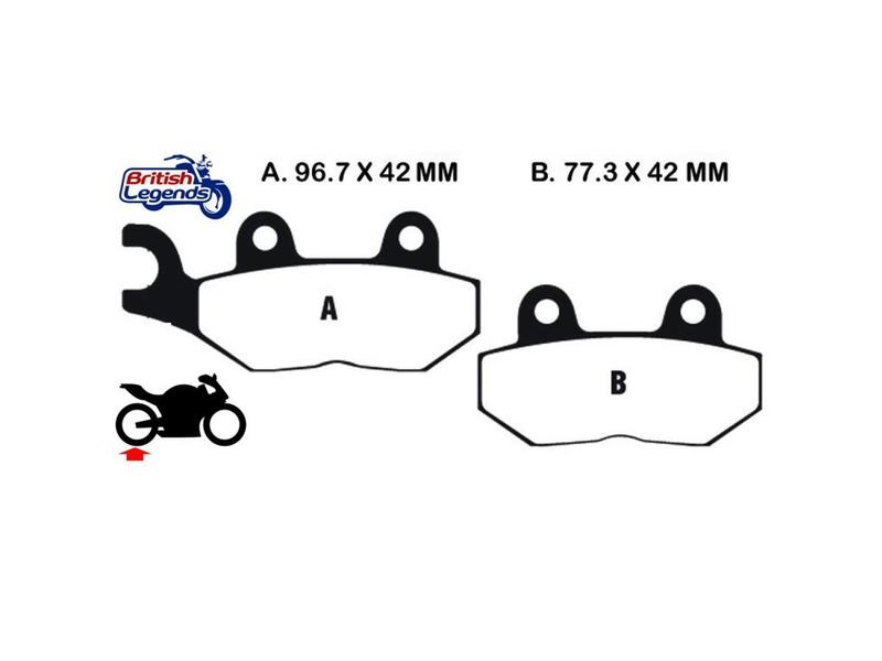"""EBC """"HH"""" Sintered Pads for Triumph Street Twin"""