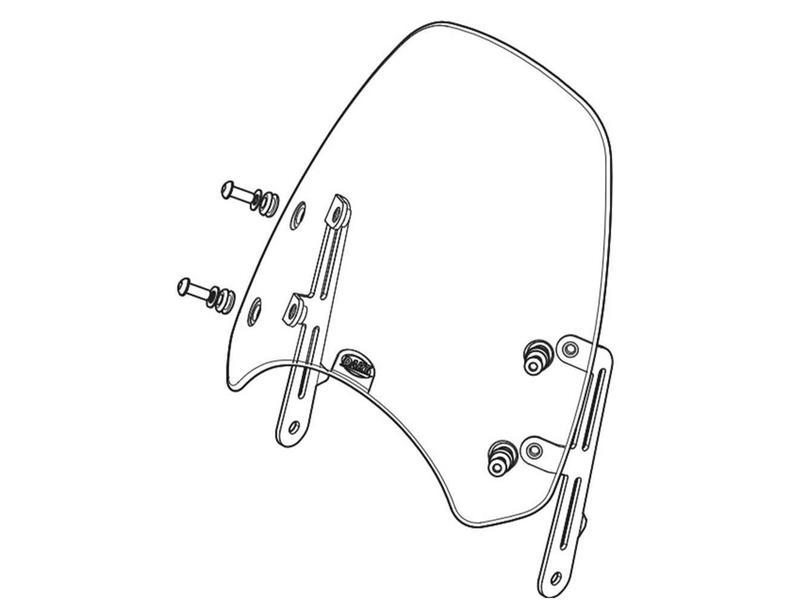 DART Flyscreen for Triumph Scrambler 900