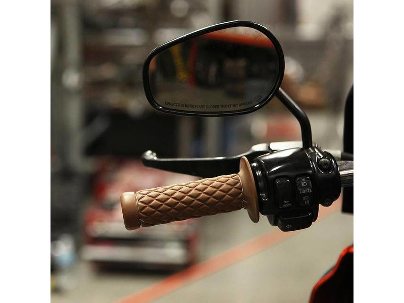 """Flat-Track"" Handlebar Grips in Soft Rubber"