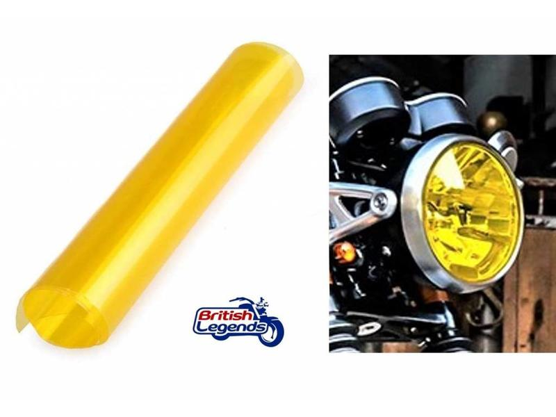High-Resistance Yellow Headlight Film for a Retro Look