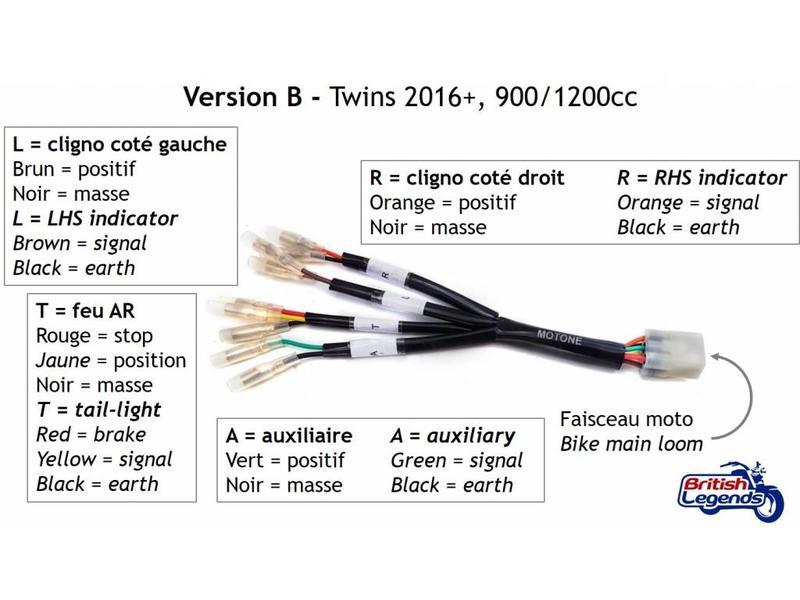 """Motone """"Plug & Play"""" Rear Wiring Loom for Triumph Twins"""