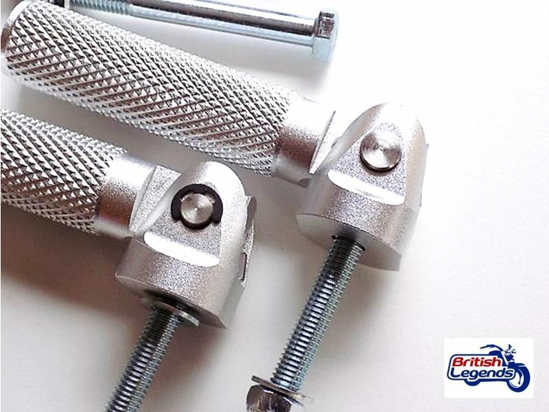 TEC Solid Alloy Footrests for Triumph motorcycles